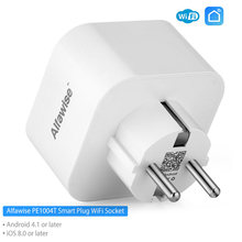 Alfawise PE1004T EU Plug Mini WiFi Socket Smart Plug Werk met Amazon Alexa Google Home Mobiele APP Afstandsbediening Energie monitor(China)