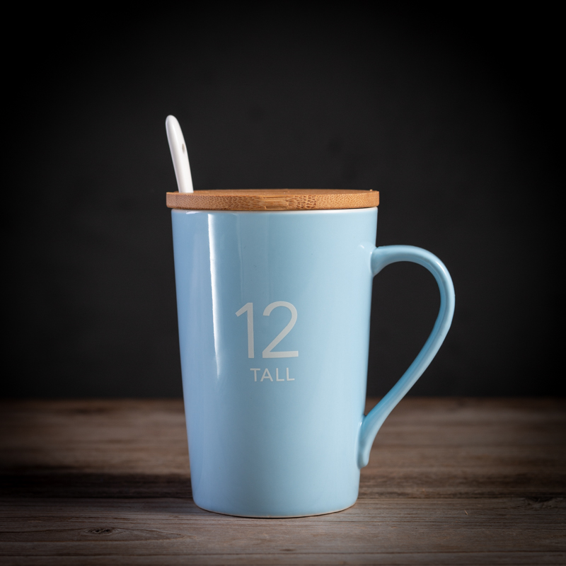 Custom Made Ceramic Coffee Mug for Couple with Lid Spoon Modern Mugs Kupa Bardak Printed Plain Mugs Gifts for Couples New MM60MK