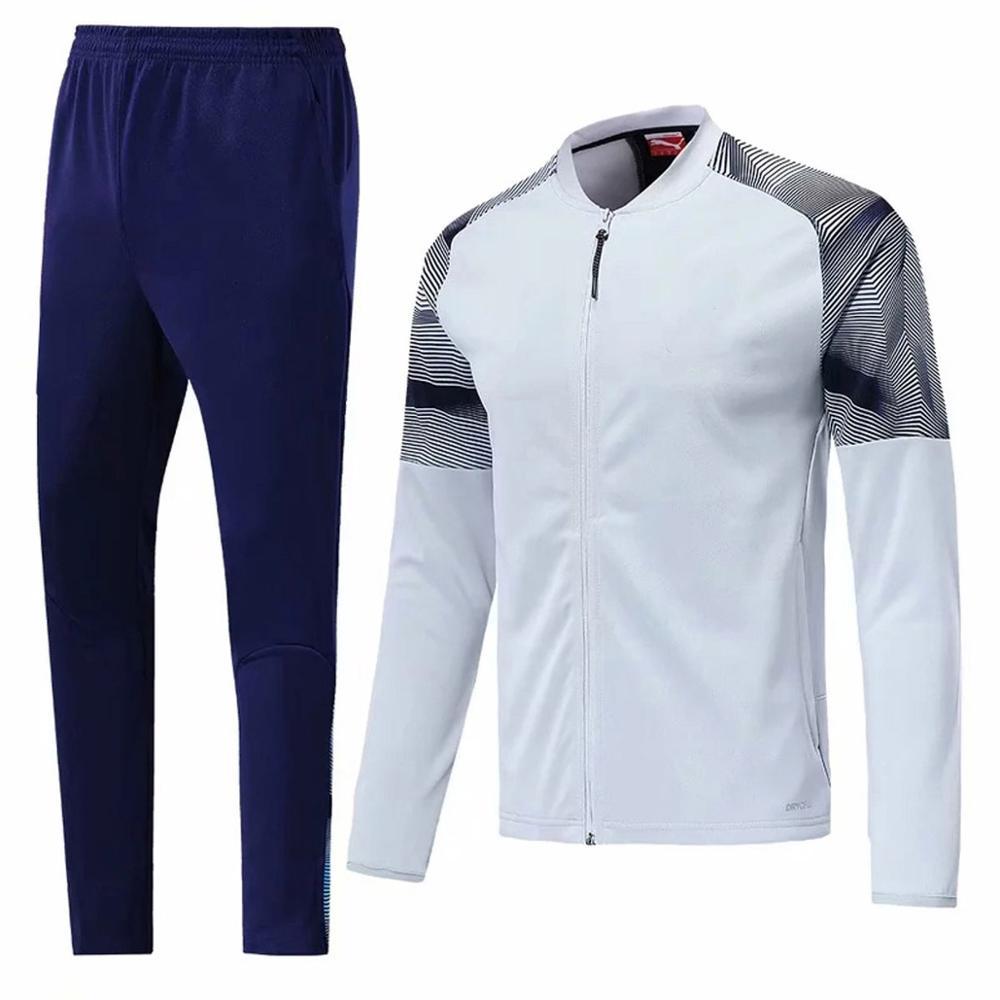 Suit Sportswear Football-Uniform-Suit Long-Sleeved-Jacket Men Adult Men's