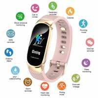Frauen Smart Uhr Sport Schrittzähler Männer Smartwatch Blutdruck Sauerstoff Herz Rate Monitor Fitness Tracker