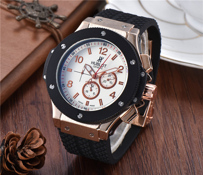 HUBLOT Luxury Brand Quartz Mens Watches Mechanical Wristwatches Stainless Steel Strap  Men's Wristwatch Classic Business Dress