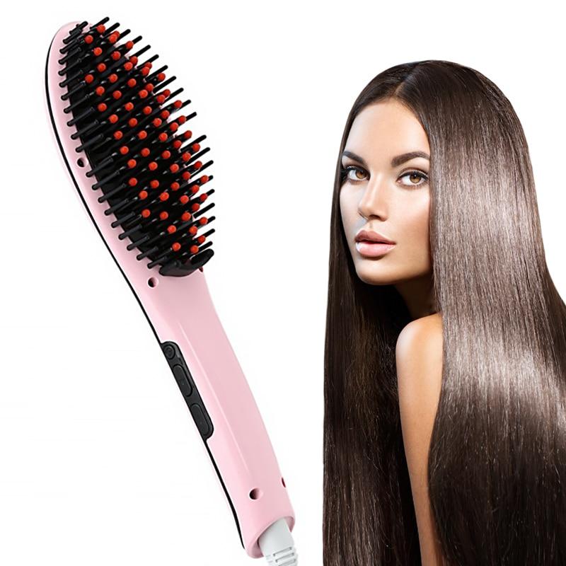 Hair Straightener Brush Hair Electric Brush Comb Irons Straight Hair Comb Brush Hair Straightener Curler Styling Tool VIP Drop