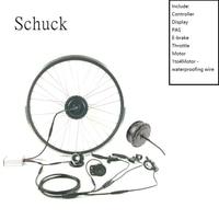Schuck 36V500WLED900SDISPLAY zestaw do roweru elektrycznego przedniego koła 16to28inch700c zestaw elektryczny do roweru Wheelbow zestaw rowerowy DIY część w Zestaw do konwersji od Sport i rozrywka na