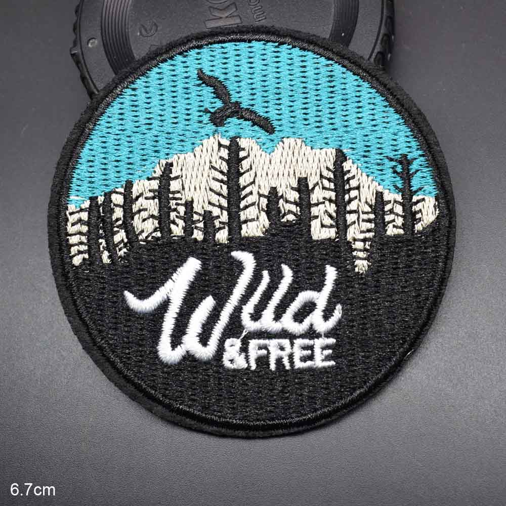 """1pcs /""""Climb Higher/"""" Embroidered Iron ON Patch for Clothes Applique Badge 3.2/"""""""