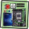 Здание Идеальный компьютер HUANANZHI X79 материнская плата CPU Xeon E5 2660 V2 с 6 тепловыми трубами кулер RAM 8G (2*4G) DDR3 REG ECC