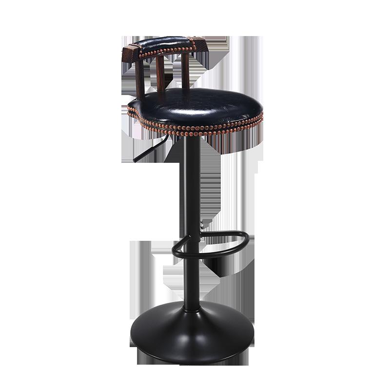 Bar Chair Swivel Lift Bar Chair High Stool Retro European Front Desk Cash Register Chair
