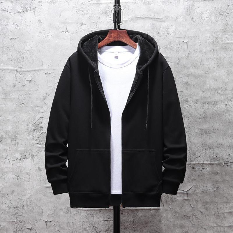 Men'S Hoodie 2020 Spring Autumn Thin  Plus Fleece Men'S Casual Hoodie Sweatshirt Men'S Solid Color Hoodie Sweatshirt Top
