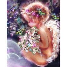 Набор для алмазной вышивки «Ангел» картина из круглых/квадратных