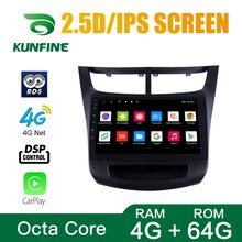 Octa Core 1024*600 Android 8,1 navegación GPS con DVD para coche reproductor sin cubierta coche estéreo para Chevrolet SAIL 2015 Radio Unidad Principal
