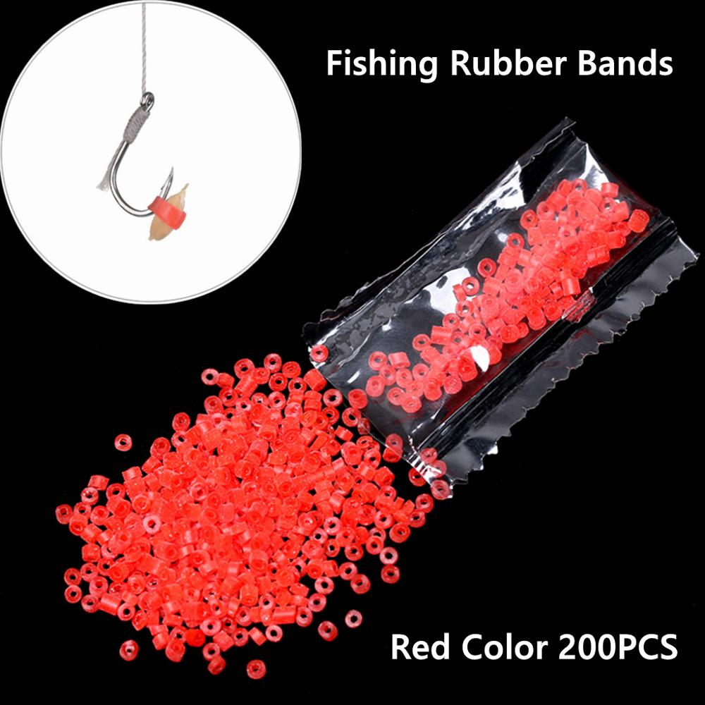 200PCS/Bag Durable Red High Elastic Latex Raw Ring Rubber Bands For Bloodworm Bait Granulator Bait Fishing Tackle Accessories