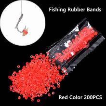200 шт./пакет прочный красный высокий эластичный латекс сырья кольцо резинок для мотыль приманки гранулятор приманки рыболовные снасти аксессуары