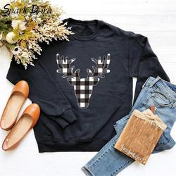 Tik-Tok najnowszy Trend łosie drukowane nowy Kpop bluzy z kapturem damskie boże narodzenie bluza O-neck z długim rękawem Casual Streetwear bluza z kapturem damskie 5