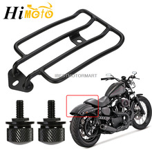 Motorcycle Solo Seat Luggage Rack Support + 2 Bolts For Harley Sportster XL883 XL1200 XL 883 1200 2004-2016 2015 2014 2013 2012