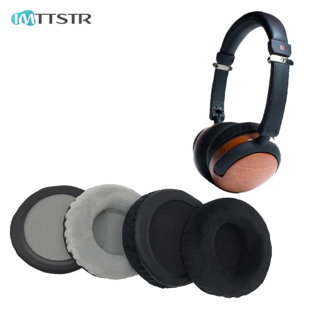 Tüketici Elektroniği'ten Kulaklık Aksesuarları'de IMTTSTR 1 çift kadife deri kulak yastıkları Thinksound On1 ve On2 1 2 kulaklık yastık kulaklık değiştirme title=