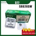 100 шт. SONY оригинальный 377 SR626SW 1,55 в блок кнопок из оксида серебра 626 SR626 V377 AG4 для часов игрушек упаковка с одной текстурой