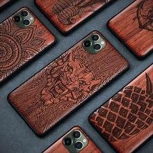 New Wood Case For iPhone 11 Pro 12 Mini SE 2020 7 8 Plus Fantasy Pattern Wooden Case Cover For iPhone 12 iPhone XR X XS Max