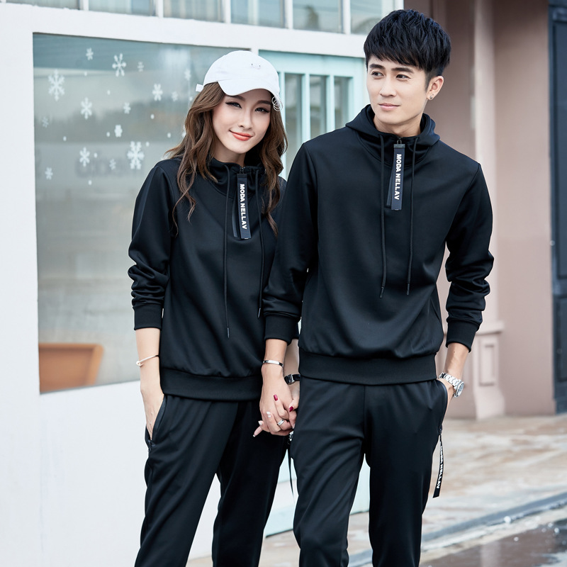 Spring Couples Sports Set Men Running Sports Clothing Two-Piece Set Men And Women Casual Hoodie