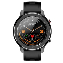 F12 Smart Watch 1.3 Inch Waterproof IP68 for Android Phone IOS Apple iPhone Smart Watch Black
