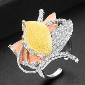 Image 3 - GODKI Luxury Geometry Dubai Gold Jewelry Sets Nigerian Wedding African Beads Bridal Jewellery Set Cubic Zircon Ethiopian Jewelry