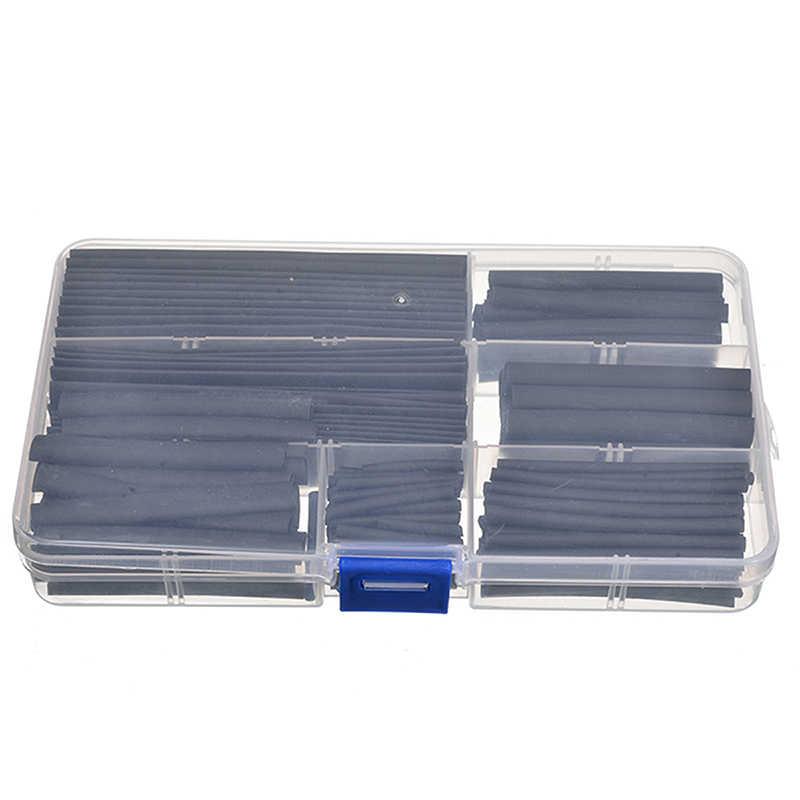150 ชิ้น/กล่อง Weatherproof Polyolefin ความร้อนหดหลอดกาวท่อฉนวนลวดสายชุด