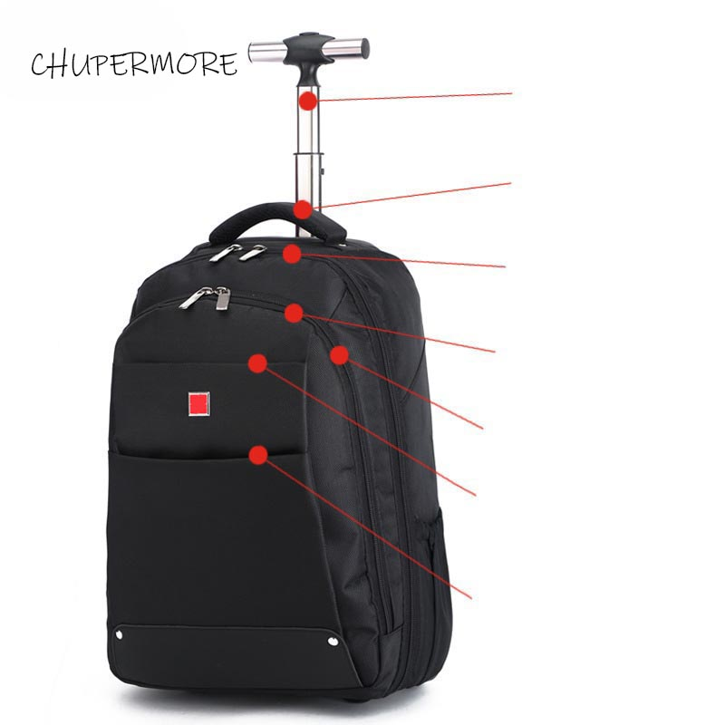 Chupermore 20 inch Multifunction Travel Bags Men Business Rolling Luggage 18 inch Women Carry ons Suitcase Wheels Laptop bag image