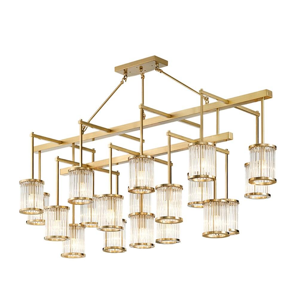 Moderne grand lustre en acier inoxydable lampe AC110V 220v or salon lumières et éclairage de projet