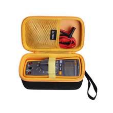 Ltgem impermeável eva caso duro para fluke 117 eletricistas verdadeiro rms multímetro