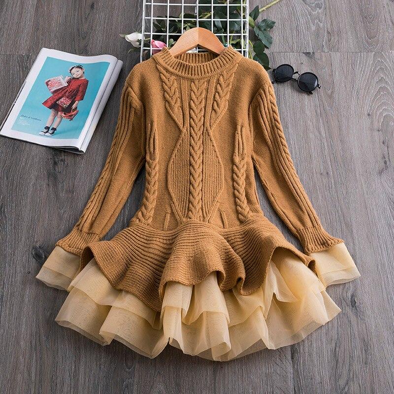 Full Sleeve Girls Dress Birthday Dresses for Kids Children's Clothing Christmas Dress for Girls Vestidos Kids Winter Clothing 6