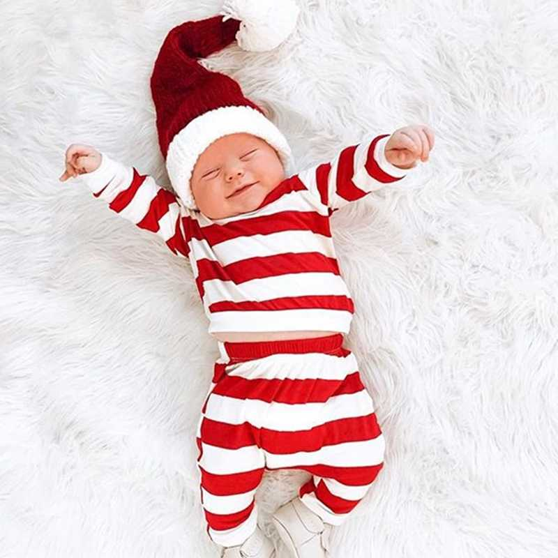 Toddler Kids Baby Boys Christmas Outfit Cotton Striped Sweatshirt Tops Pants Trousers Set Outfits Baby Boy Girl Xmas Clothes Clothing Sets Aliexpress