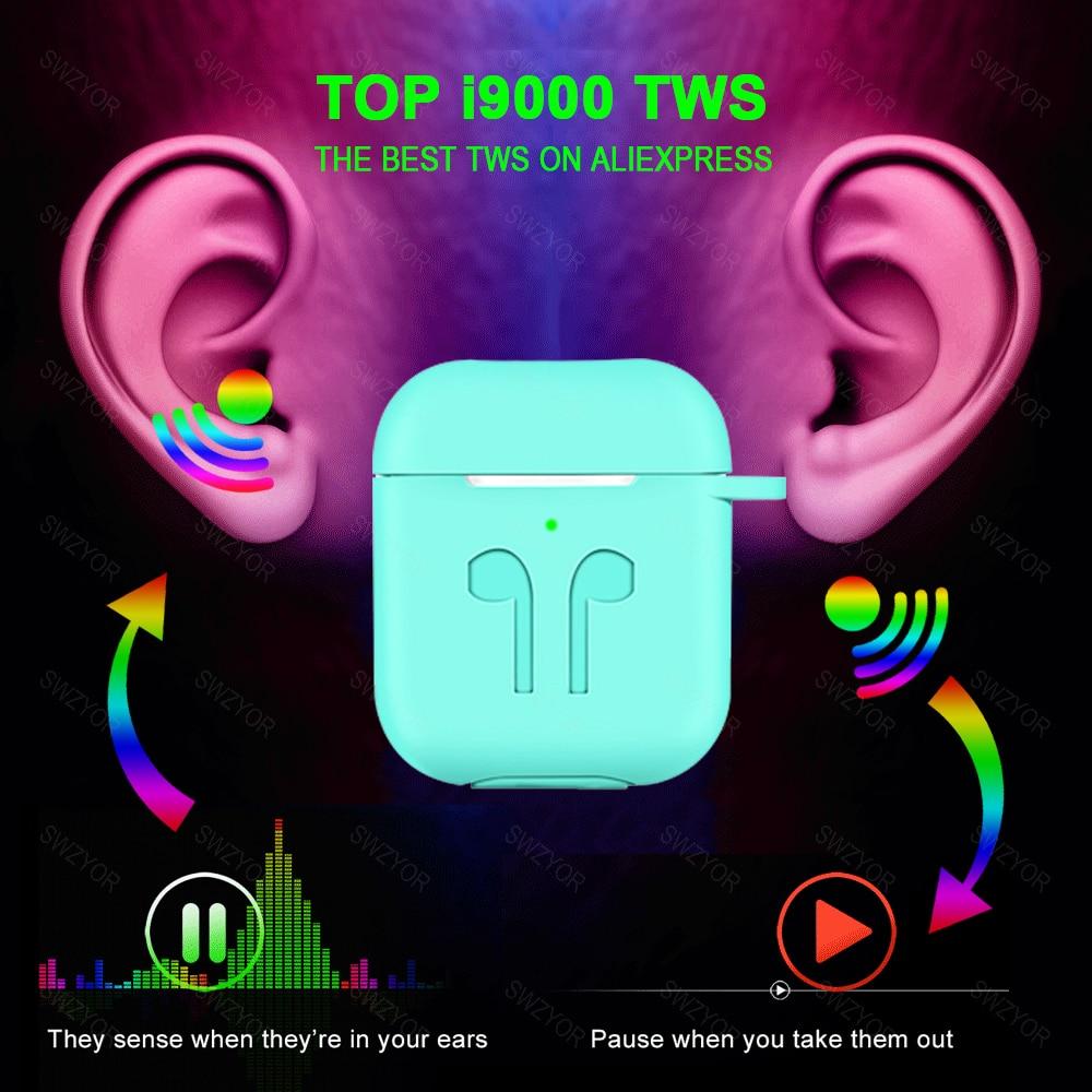 I9000 TWS écouteurs sans fil Pop up 1:1 réplique Air 2 avec QI sans fil charge Bluetooth 5.0 écouteurs i180tws PK i500 TWS i200