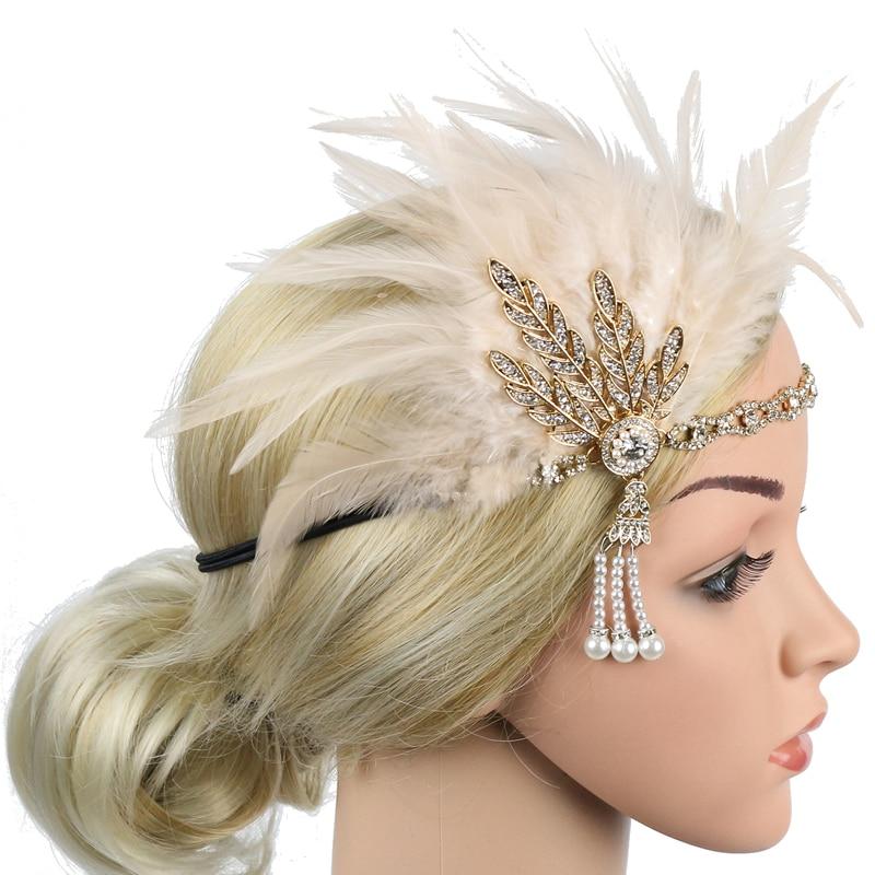 Женский ободок с медальоном 1920s, ободок с перьями и перьями, 20s, вдохновленный Great Gatsby, аксессуары для волос