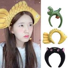 Headbands Hair-Accessories Rabbit-Fish Girls Winter Children Fashion Women Autumn Cute
