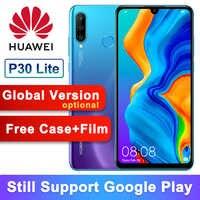 Global Versão Opcional Original Huawei P30 Lite Nova 4e Kirin 710 Octa Núcleo Android 9.0 do Smartphone 6.15 de polegada 32MP 4 * câmeras
