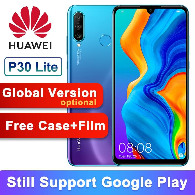 Version mondiale en option Smartphone d'origine Huawei P30 Lite Nova 4e 6.15 pouces Kirin 710 Octa Core Android 9.0 32MP 4 *