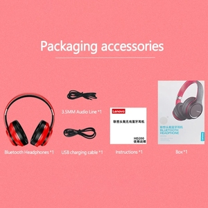 Image 5 - Lenovo HD200 Bluetooth Draadloze Stereo Hoofdtelefoon BT5.0 Lange Standby Leven Met Noise Cancelling Voor Xiaomi Iphone Lenovo Headset