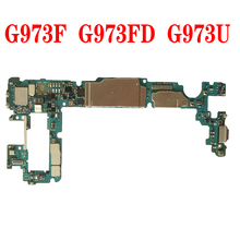 Original Unlocked Motherboard For Samsung Galaxy S10 G973F G973U G973FD 128GB mainboard With full chips good working plate