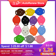OkeyTech Silicone Car Key Case Cover For Benz Smart City Coupe Cabrio Crossblade Fortwo Roadster K Forfour 3 Buttons Key