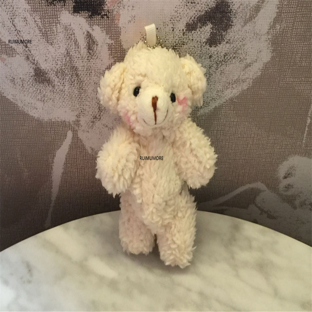 3 размера, милый медведь кукла Мягкие плюшевые игрушки, брелок подарки мягкие и плюшевые животные плюшевые игрушки - Цвет: 10cm