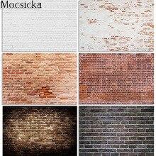 Mocsicka Ziegel Wand Fotografie Hintergrund Rustikalen Vintage Retro Stein Wand Fotografischen Hintergrund für Foto Studio Photobooth
