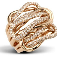Modyle Woman Zircon Couple Women Jewelry Lady Wedding Rings For Women Crystal Stone Knot Rose Gold Color Engagement Ring Female simple gold silver color wedding rings for women men couple crystal zircon rings luxury engagement love ring jewelry gift d5z099