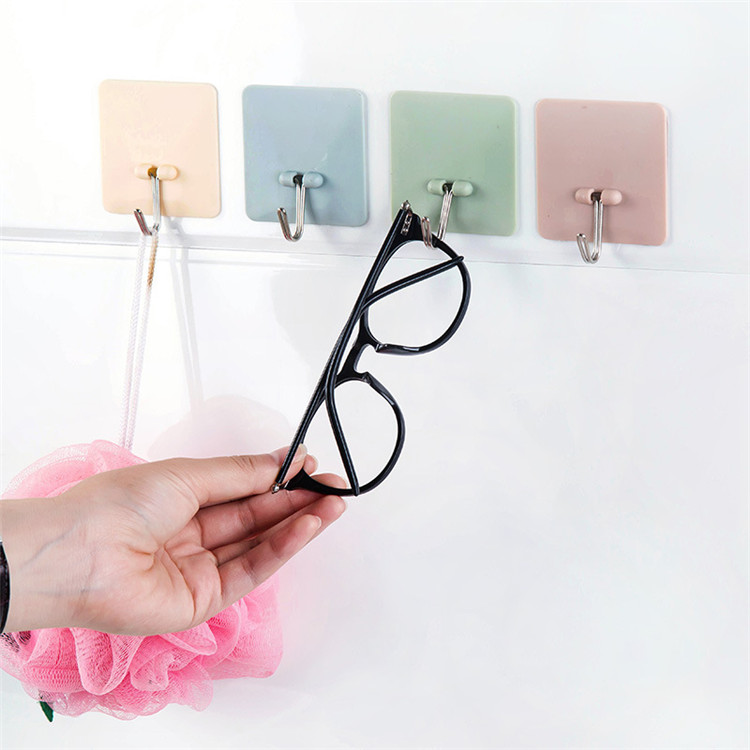 1Pcs Self Bathroom Kitchen Hooks For Hanging Adhesive Hooks Stick On Wall Hanging Door Clothes Towel Handbag Holder Wall Hanger