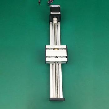 High Precision CNC ST T8*2 Ballscrew Sliding Table effective stroke 300mm+1pc nema 17 stepper motor XYZ axis Linear motion