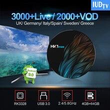 IPTV Sweden/Spain IUDTV IPTV Turkish Portugal HK1 MAX Android 9.0 Smart TV Box 4G 64G BT4.0 1 Year Greek Germany Italy UK IP TV все цены