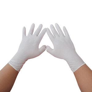 Image 3 - Nieuwe 100 Pcs/50 Paar Witte Wegwerp Nitril Handschoenen Waterdicht Olie Proof Beschermende Handschoenen Huis Industrieel Gebruik