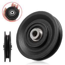 цена на MAYITR High Quality Bearing Pulley 90mm Wearproof Nylon Bearing Pulley Wheel Cable Gym Universal Fitness Equipment Part