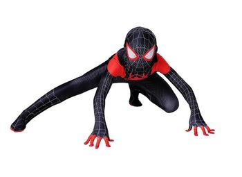 2019 New Children's costume Spiderman verses spider Miles Morales Cosplay Costume Zentai Spiderman pattern Body Bodysuits