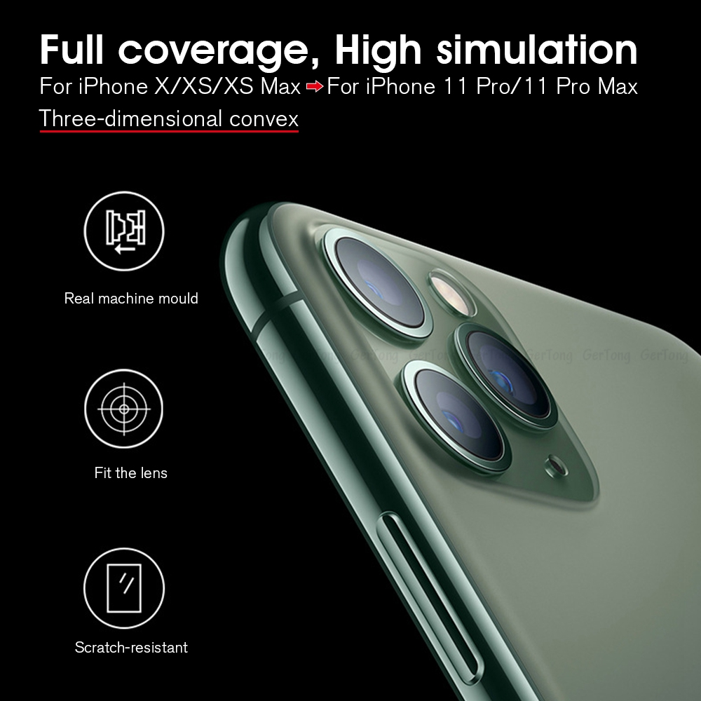 Hc1caa858f96943ffb8b3c328feab6d98Z - 3D Alumium Camera Lens Seconds Change for iPhone 11 Pro Max Lens Ring Cover Sticker For iPhone X R XS MAX Rear Protective Cover