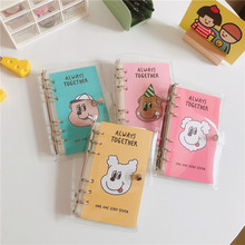Notebook A6 Travel Office-Stationery Grid School-Supplies Diary Loose Leaf Plan Portable