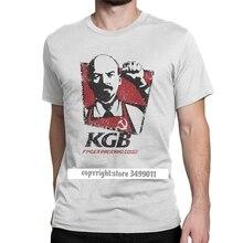 KGB Владимир Ленин мужские футболки СССР Россия коммунизм Марксизм социализм винтажные футболки топы футболки Премиум хлопок подарок