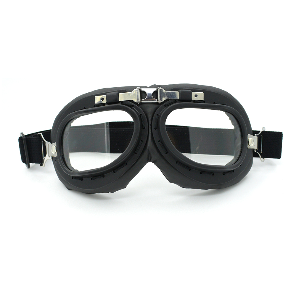 Barnd 100% Vintage Motorcycle Glasses Goggles Leather Steampunk Ski Googles Sunglass for Dirt Bike Cafe Racer Moto Helmet